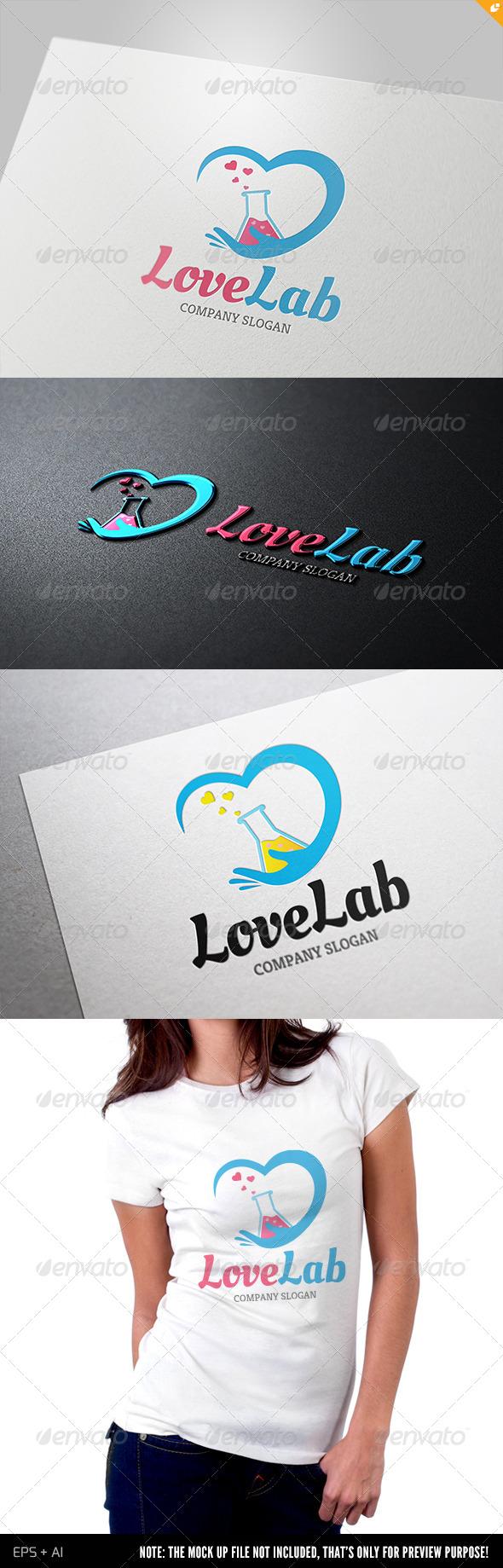 GraphicRiver Love Lab Logo 4176110