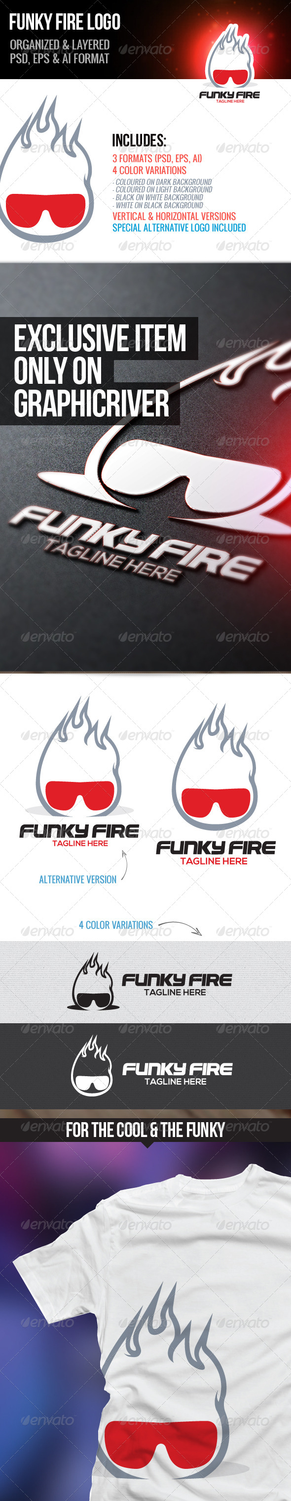Funky Fire Logo - Humans Logo Templates