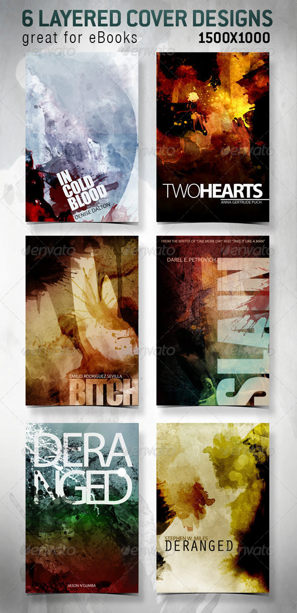 GraphicRiver 6 eBook Covers for Web 4275055