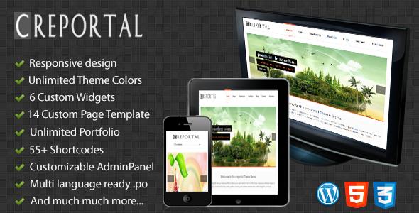 ThemeForest Creportal Creative WordPress Theme 4254490