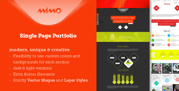 ThemeForest Mimo Single Page Portfolio 4275522