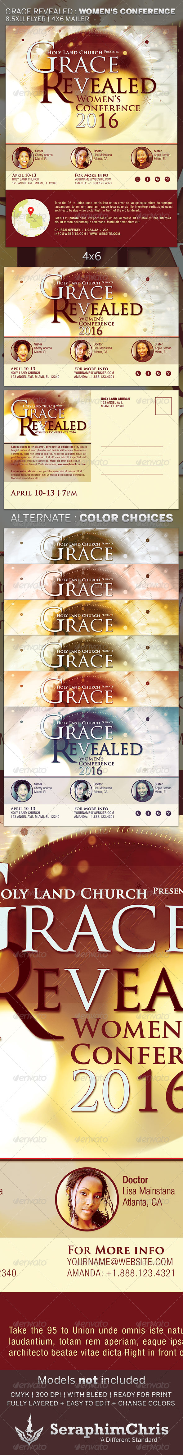 Grace Revealed Church Flyer Template