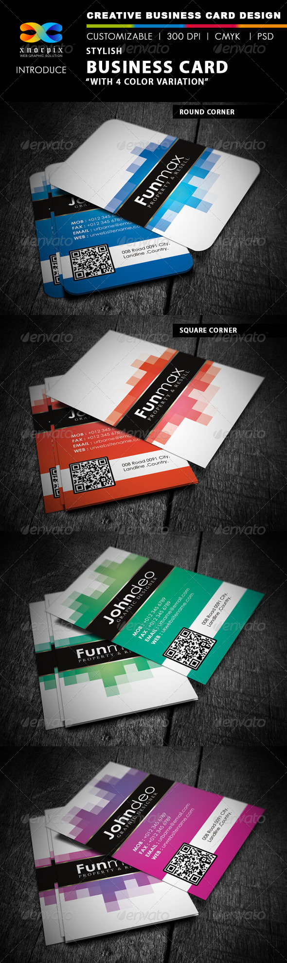 GraphicRiver Stylish Business Card 4091657