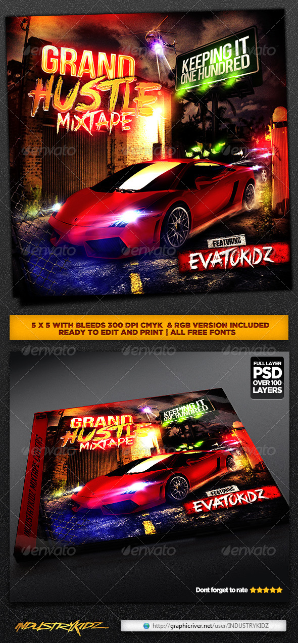 GraphicRiver Hip Hop Mixtape CD Cover 4275654