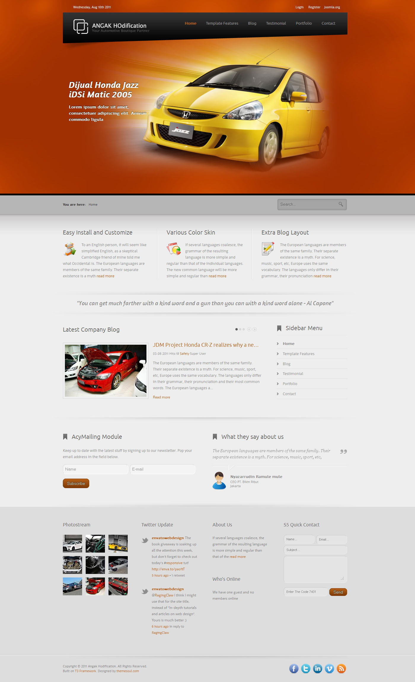 Angak-Ho - JomSocial Ready Corporate Joomla Template