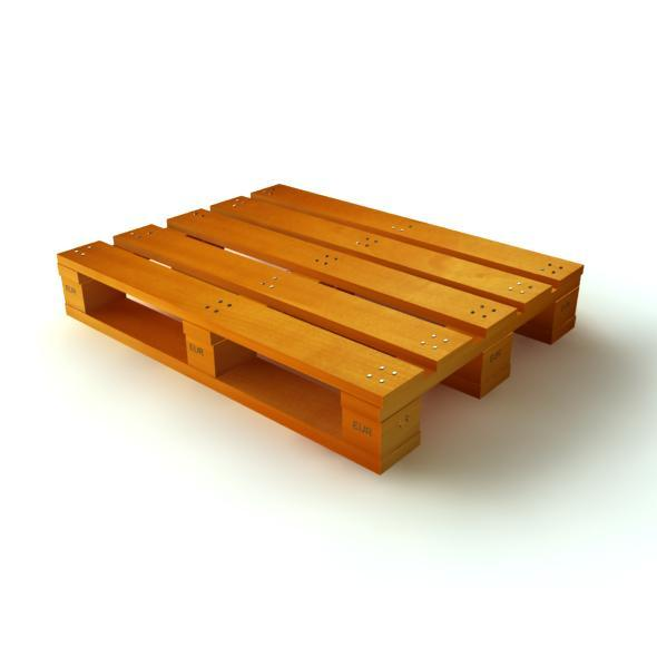 3D Model Wood Pallet	 - 3DOcean Item for Sale