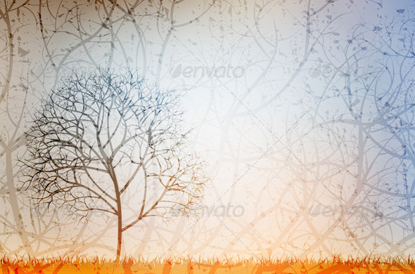 GraphicRiver Lonely Tree 4276586