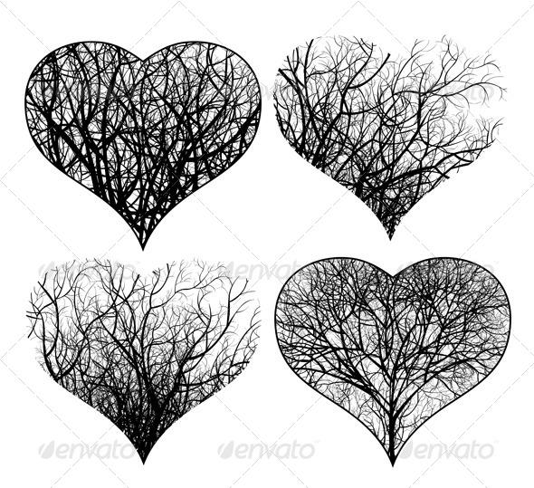 GraphicRiver Ornamented Hearts 4276703