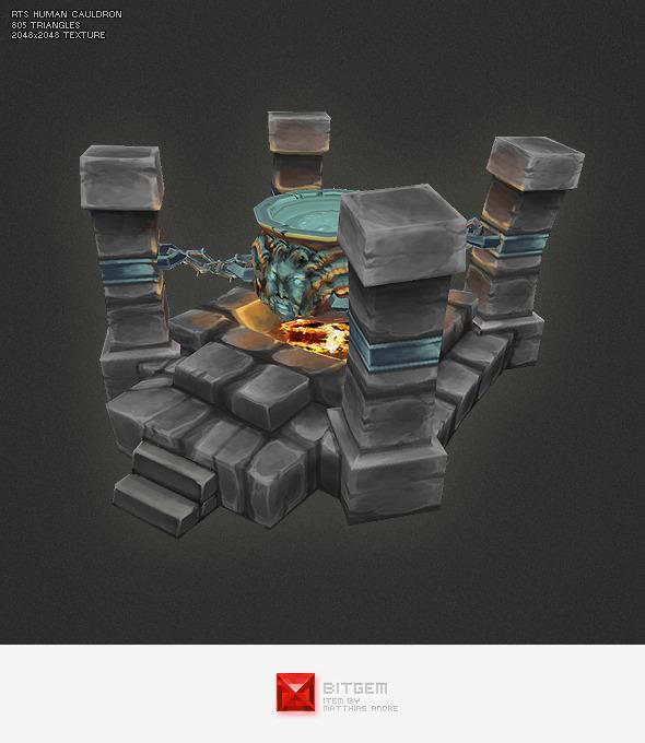 3DOcean Low Poly RTS Human Cauldron 4277717