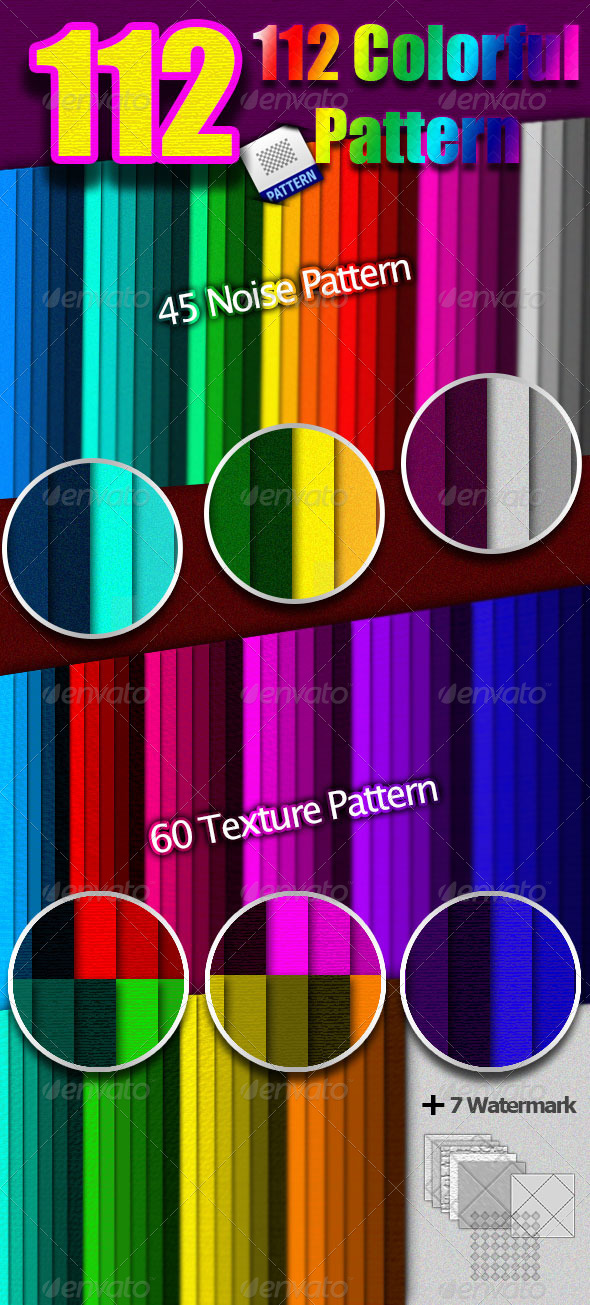 GraphicRiver 112 Colorful Pattern 4277916
