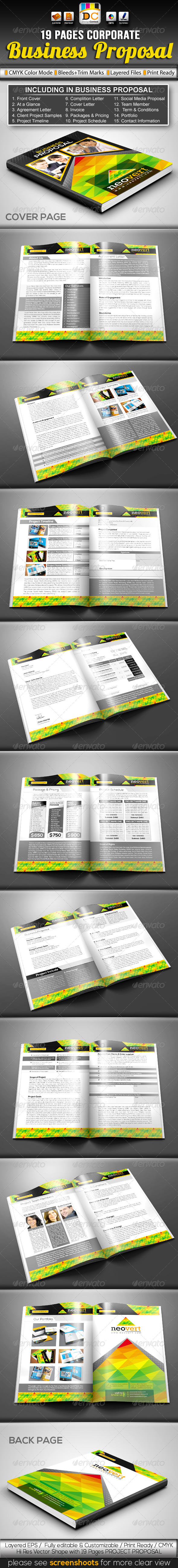 NeoVert_Corporate Business/Project Proposal - Proposals & Invoices Stationery