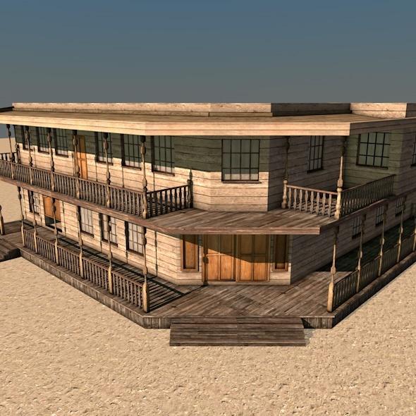 Western Building C - 3DOcean Item for Sale