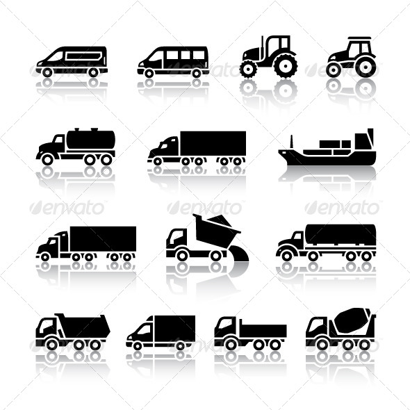 GraphicRiver 16 Transport Icons 4278637