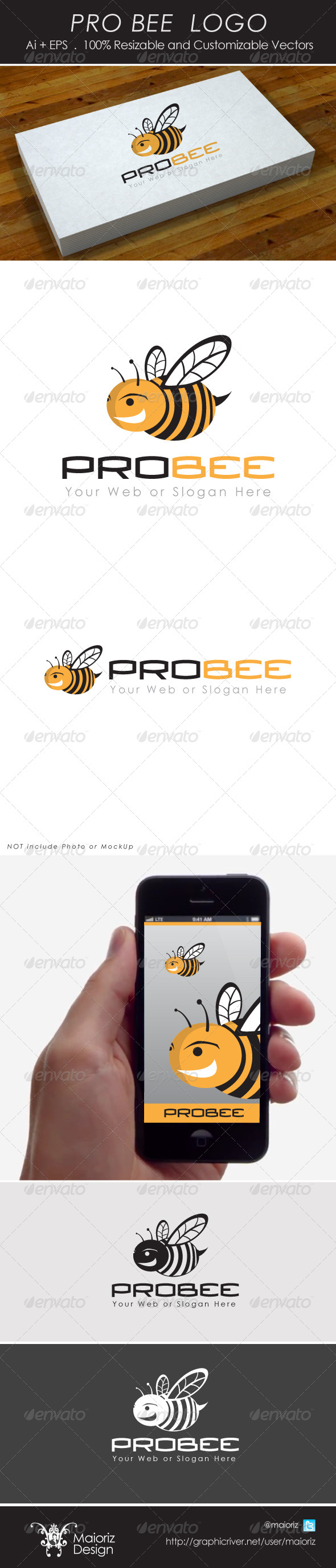 GraphicRiver Pro Bee Logo 4279018
