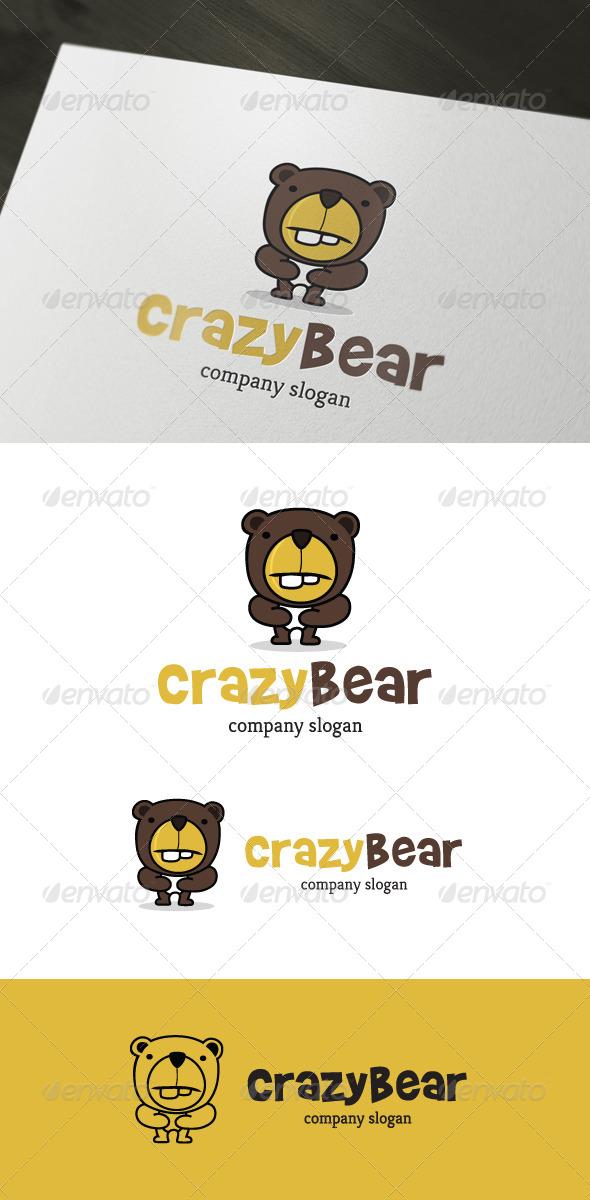GraphicRiver Crazy Bear Logo 4279122