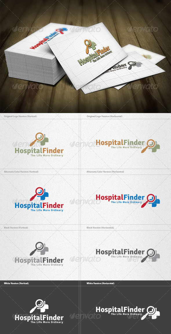 GraphicRiver Hospital Finder Logo 4279348