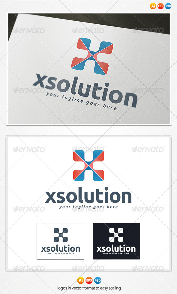 GraphicRiver X Solutions Logo 4279370