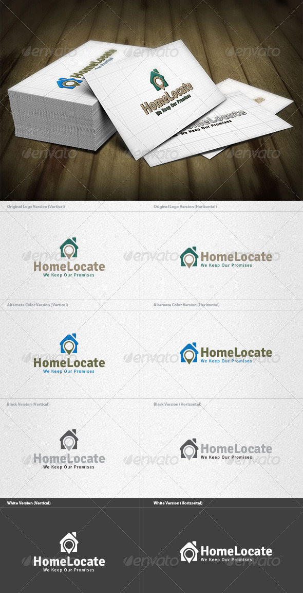 GraphicRiver Home Locator Logo 4279372