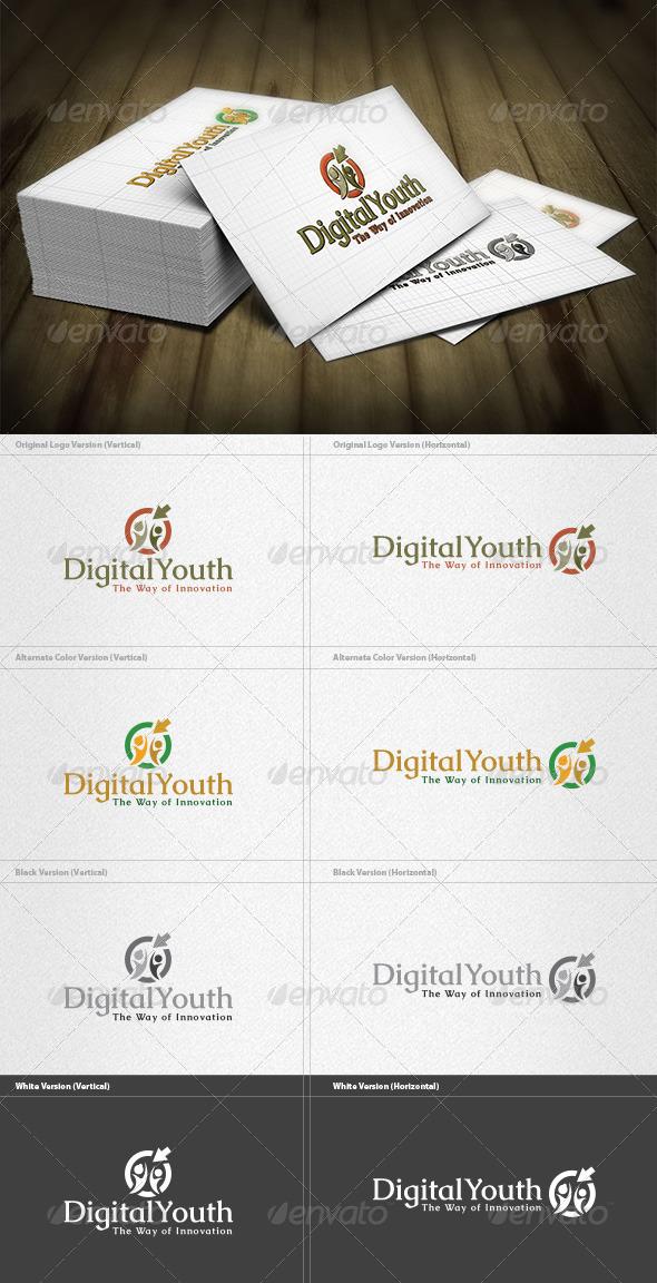 GraphicRiver Digital Youth Logo 4279389