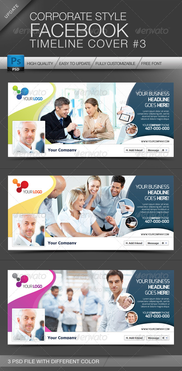 GraphicRiver FB Timeline Cover Corporate Style No.3 4279710