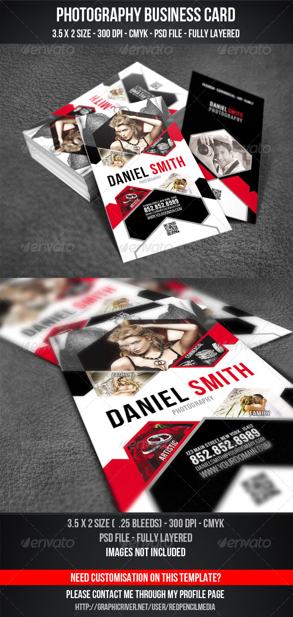 GraphicRiver Photography Business Card 4279711