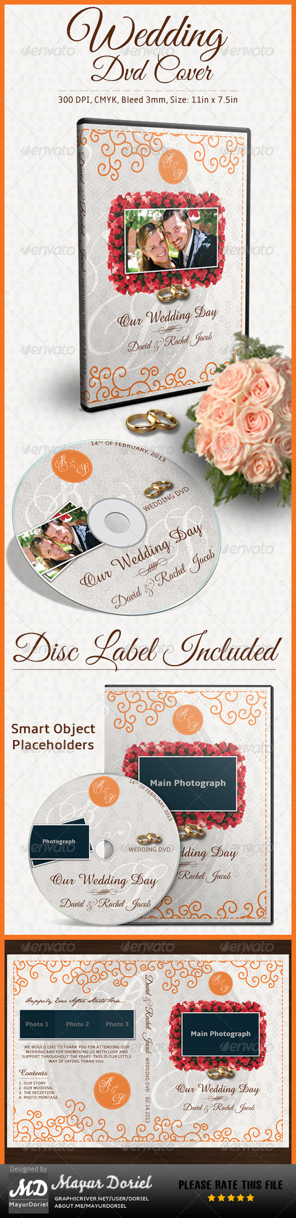 GraphicRiver Wedding DVD Cover 4096309
