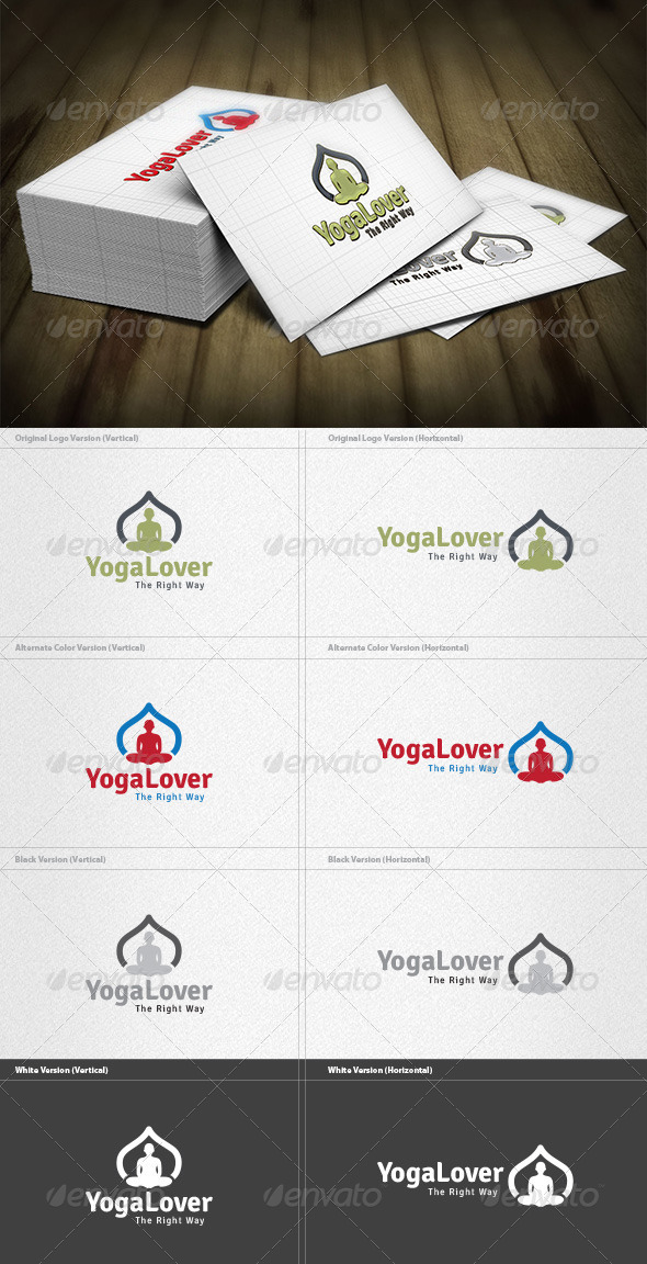 GraphicRiver Yoga Lover Logo 4279772