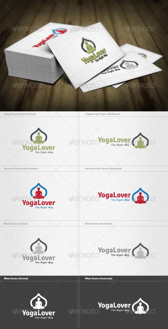 GraphicRiver Yoga Lover Logo 4279772