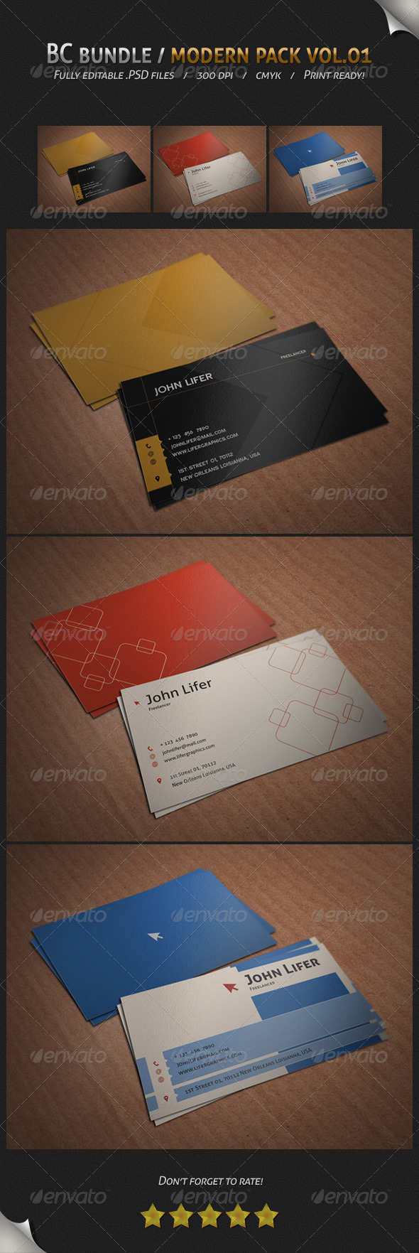 GraphicRiver BC Bundle Modern Pack Vol.01 4280066