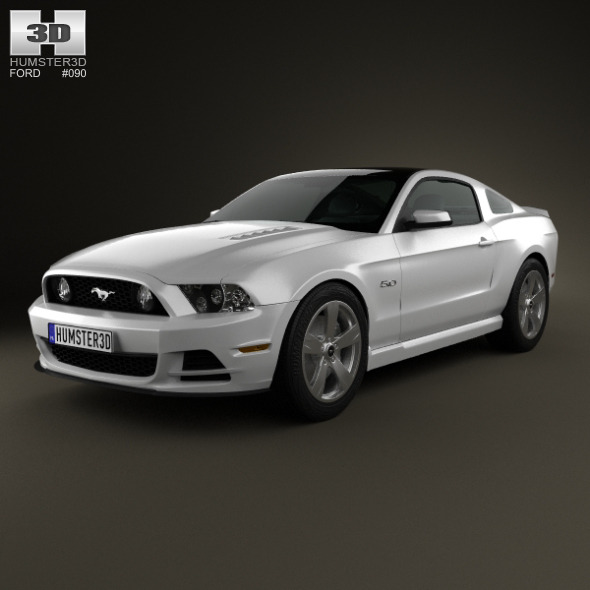 Ford Mustang 5.0 GT 2012 - 3DOcean Item for Sale