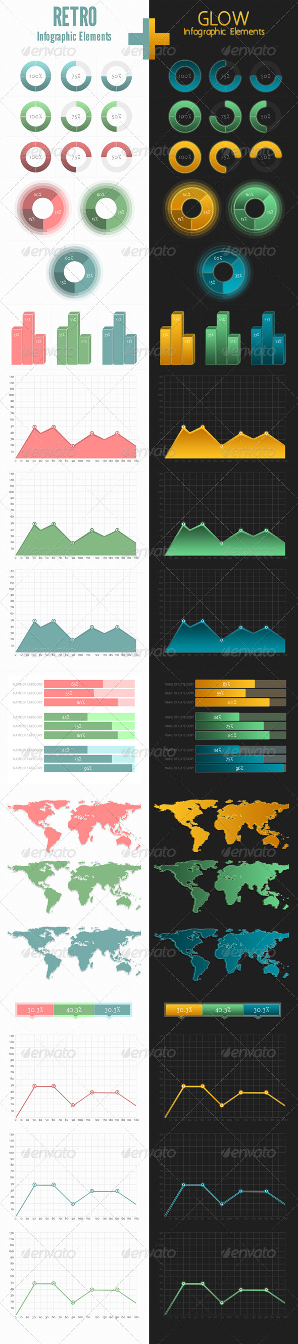 GraphicRiver Retro&Glow Infographic 4280196