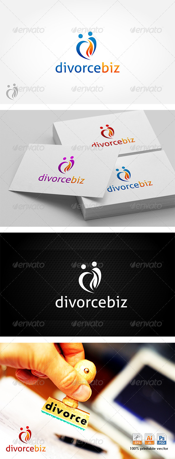 GraphicRiver Divorce Biz Logo 4280238