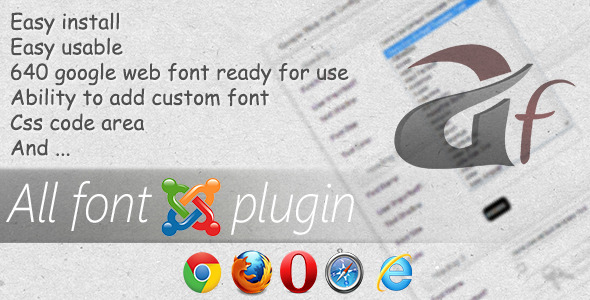 CodeCanyon All Font-Unlimited Fonts for Joomla 4265822