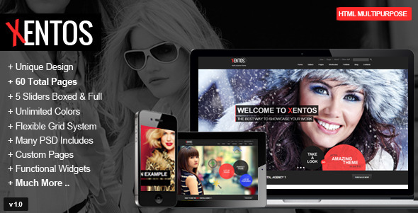 Xentos - Responsive Multipurpose Theme - Creative Site Templates