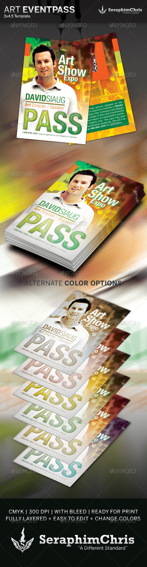 GraphicRiver Art Show Event Pass Template 4281078