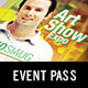 Art Show Event Pass Template - GraphicRiver Item for Sale