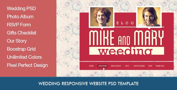 ThemeForest Wedding Retro PSD Template 4281285