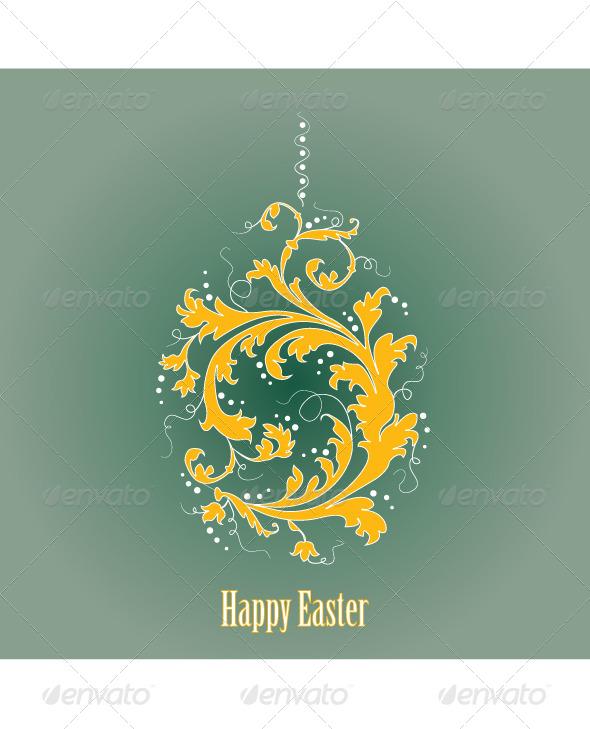 GraphicRiver Ornamental Easter Egg 4281542