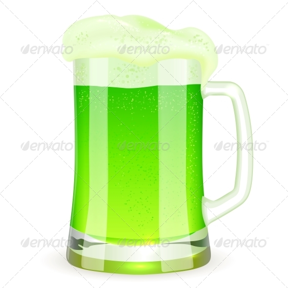 GraphicRiver Saint Patrick s Day Pint of Green Beer 4281575