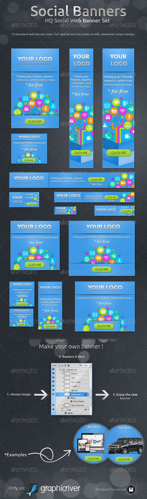 GraphicRiver Social Banners Social Web Banner Set 4160602