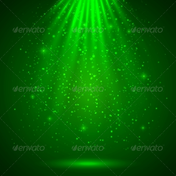 GraphicRiver Green Magic Light Abstract Background 4281713
