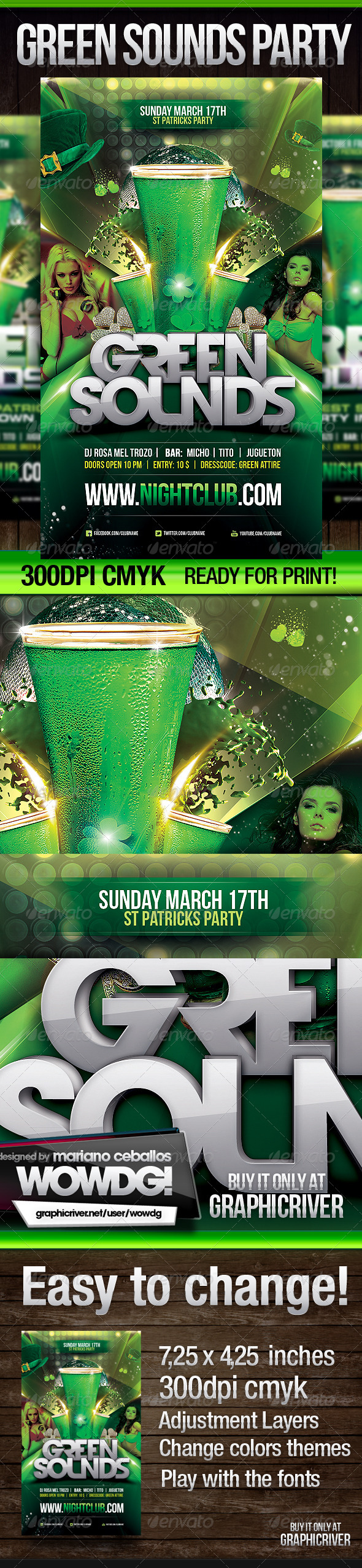 GraphicRiver St Patrick Green Sounds 4099734