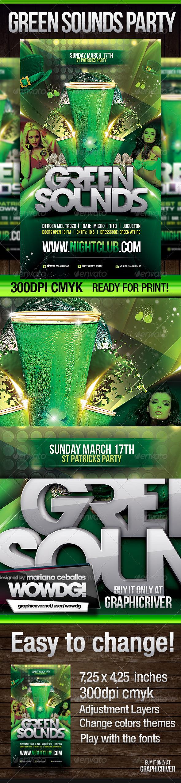 St. Patrick Green Sounds - Print Templates