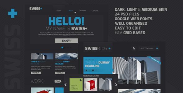 ThemeForest Swiss Responsive Portfolio PSD Theme 4282258