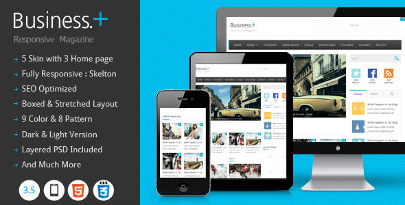 Business : Magazine Wordpress Theme