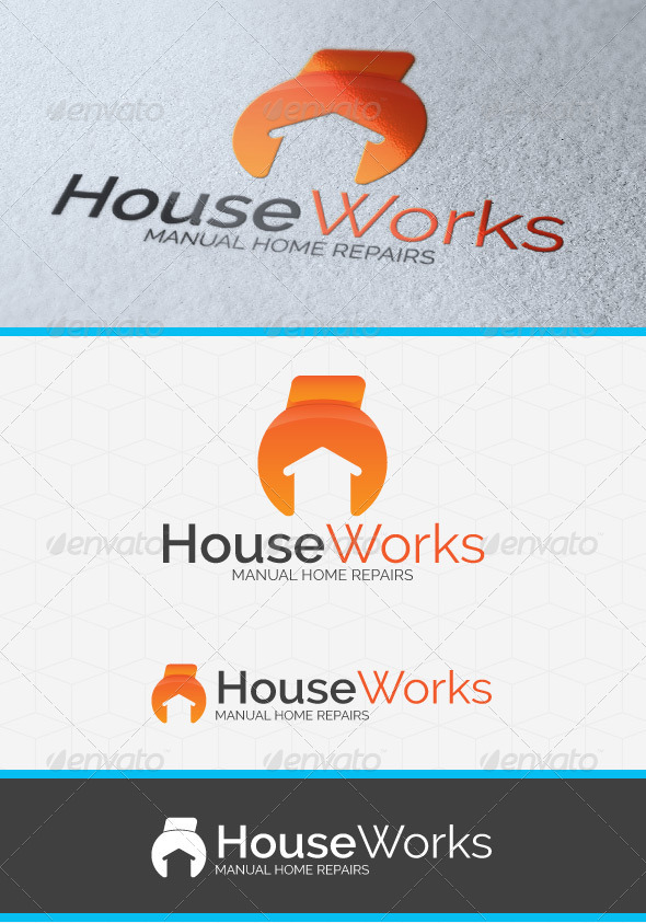 GraphicRiver House Works Logo Template 4181028