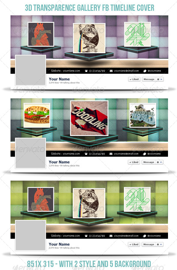 GraphicRiver 3D Transparence Gallery FB Timeline 4282359