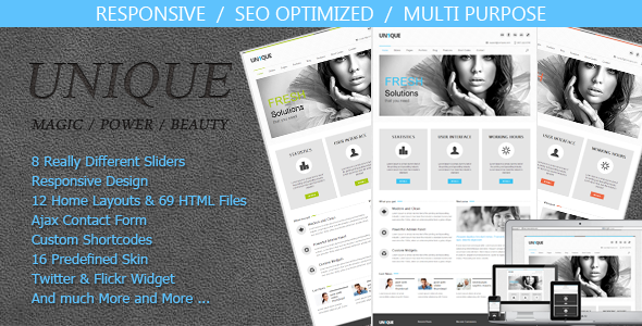 ThemeForest Unique Magic Power Beauty 4262906