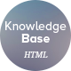 Knowledge Base HTML Template - ThemeForest Item for Sale