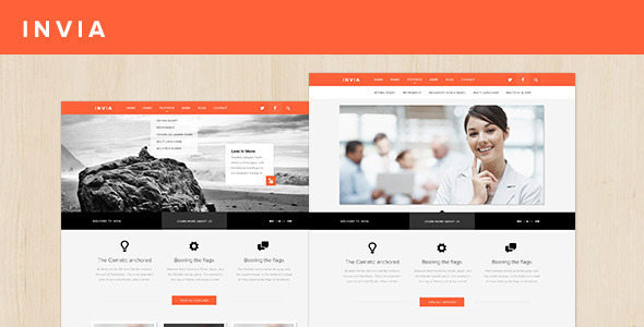 INVIA Responsive Corporate WP Theme - Business Corporate